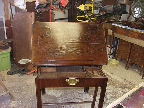 Architect desk . - Architect Desk - Alcedines Antique & Art Restoration Studio