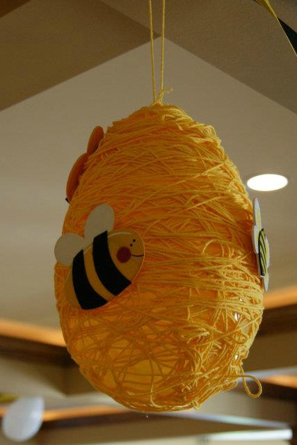 Balloon Bee Hive In The Making